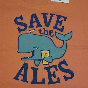 """Women's Sz M """"Save the Ales"""" T-Shirt Life is Good"""